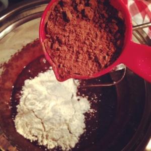 cocoa:flour